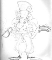 Mad hatter sketch by schults