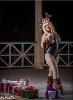 Merry Christmas ~ Reindeer Black Canary by St3phBot