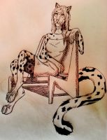 Me as a Snow-leopard Anthro 2 by 1Rootbeer