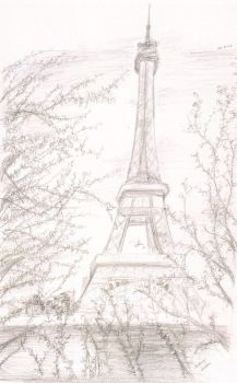 The Eiffel Tower by EvaDiana