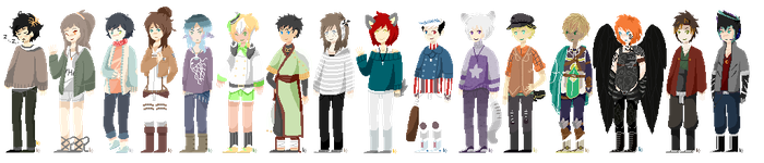 bunch 'o pixel people by harpsr