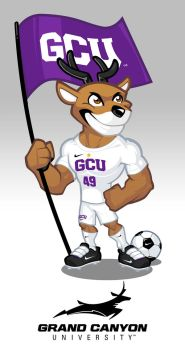 Mascot design for Grand Canyon Soccer by SOSFactory