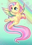 Rainbow Powered Fluttershy by C-Puff