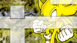 Super Sonic PSP Background by DarkSonic666