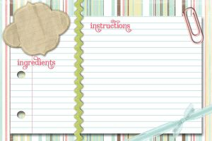 Pastel Recipe card by vintage-cup-cake