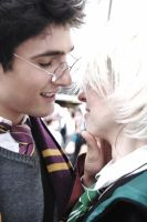 Harry Potter and Draco Malfoy by fishinette