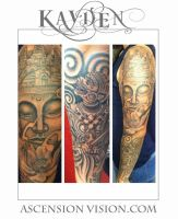 Buddhism sleeve by kayden7