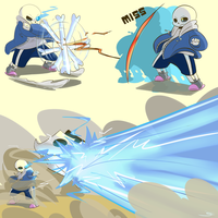 Sans' Actions by Caguiat233