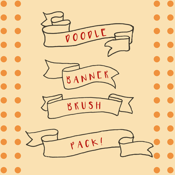 [Stock] Doodle Banner Brushes by dimawari