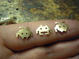 gold space invaders by Debals