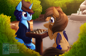 The First Move (commission) by StarshineBeast