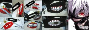 DIY Kaneki's Mask Done! by apalahnamanyaitu