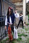 Jack Sparrow and Angelica-Pirates of the Caribbean by Emy182