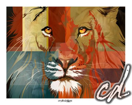 Lion Abstract 2014 by CreativDesignz