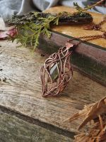 Labradorite copper necklace by UrsulaJewelry