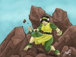 Adult Toph Earthbending by JakarNilson