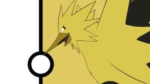 Zapdos Minimalist Wallpaper V2 by Narflarg