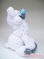 White Alpaca Amigurumi Crochet Plushie by RainbowReverie