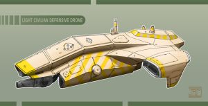 Light Civilian Defensive Drone by Luneder