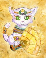 White Egyptian kitty by Starrydance