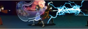 Zutara Electrifying Battle by Kuro-Akumako