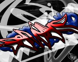 Graffiti Desktop BG 1 of 2 by TripAddict