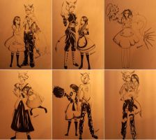 Outfits- Alice and Cheshire by C-hrona