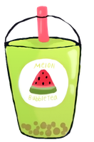 Melon Bubble TEA_Yosu-Ruka by AtsukoHaruko
