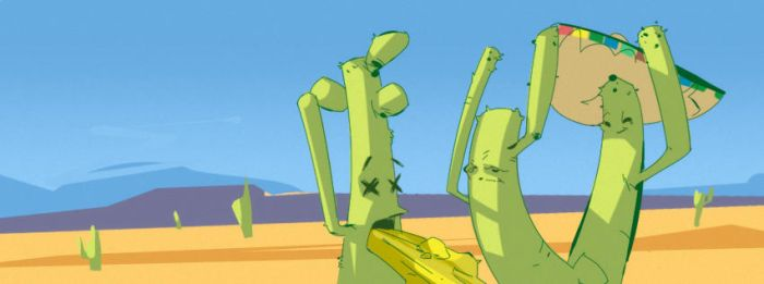 drunk cacti by xyphid