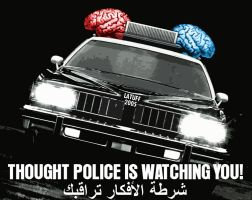 Thought Police is watching you by Latuff2