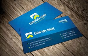 Cool Blue Vector Business Card Template by Designslots