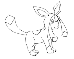 Smaller Glaceon Lineart by sam-speed