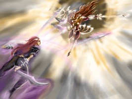 Leona vs Katarina by gerrd