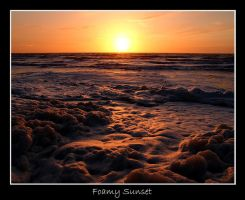 Oostende - Foamy Sunset by lux69aeterna