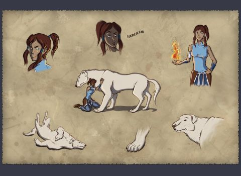 'Legend of Korra' sketches by StasySolitude