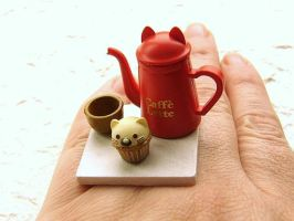 Coffee And Cat Cake Ring by souzoucreations