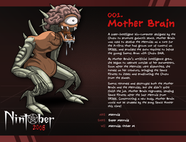 Nintober 001. Mother Brain by fryguy64