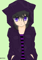 Cheshire Cat Female Ear hoodie by Witchling413