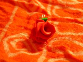 Fimo Red rose by REDDISH-MUSE