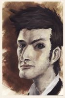 *caricature* Tennant (Doctor Who) by Deskari