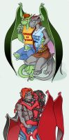 gargoyles couples for the GGPP by valaheri