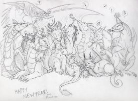Happy New Year 2008 by Dragonmistral