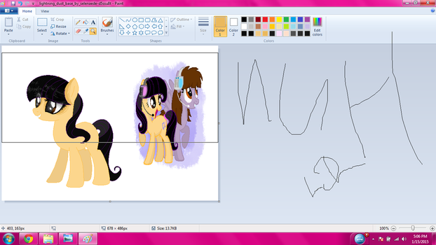 wip doing somone X3 by CloudyPonyArtists