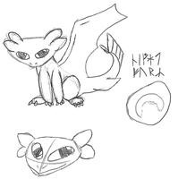 Baby Night Fury Sketches by Tespeon