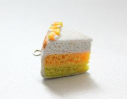 Candy Corn Cake Charm by ChroniclesOfKate