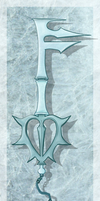 Niveus's Keyblade - Ice Sickle by Raixal