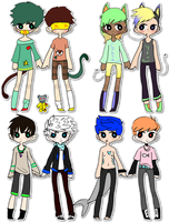 SummerNine Adopts [pts][2/8 OPEN] by SummerShimmer-adopts