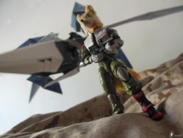 SFA Arwing Model and Fox McCloud Action Figure I by archus7