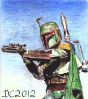 Boba Fett Traditional by David-c2011