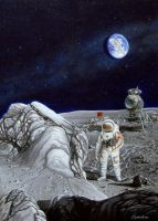 1975. Leonov on the Moon. by SKrainev